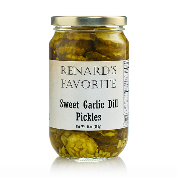 Sweet Garlic Dill Pickles - Renard's Favorite Jar