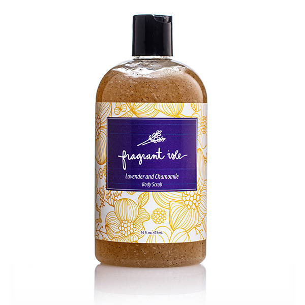 Lavender & Chamomile Body Scrub - Fragrant Isle Bottle