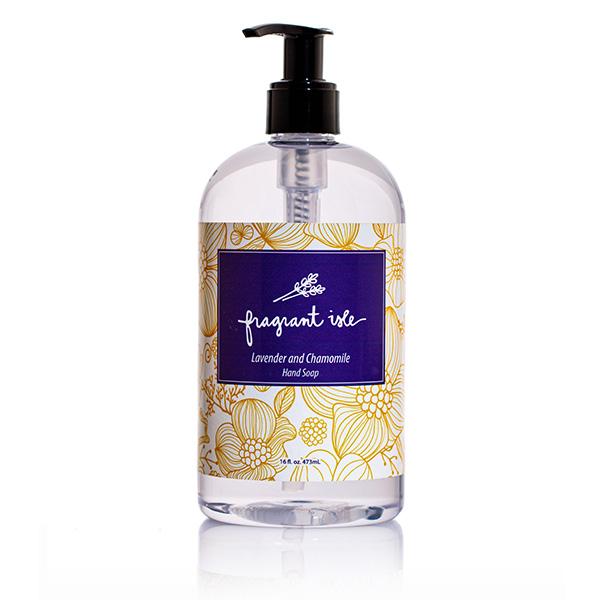 Lavender & Chamomile Hand Soap - Fragrant Isle Bottle