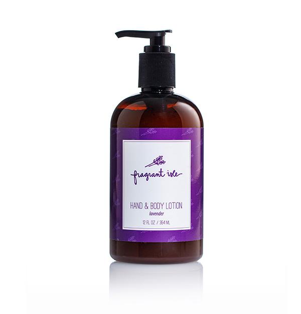 Lavender Hand & Body Lotion - Fragrant Isle Bottle