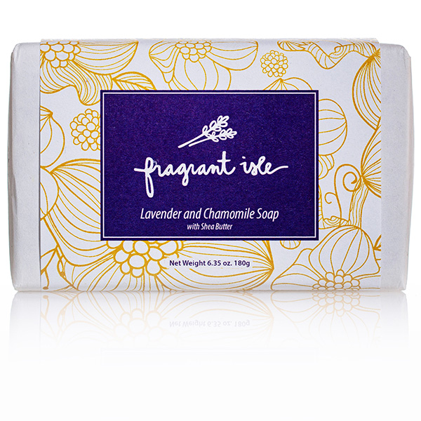 Fragrant Isle Lavender and Chamomile Soap with Shea Butter