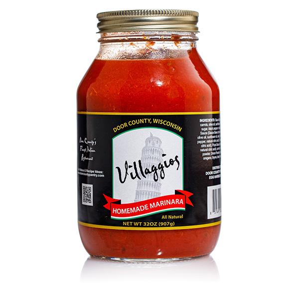 Homemade Marinara Sauce - Villaggios Jar