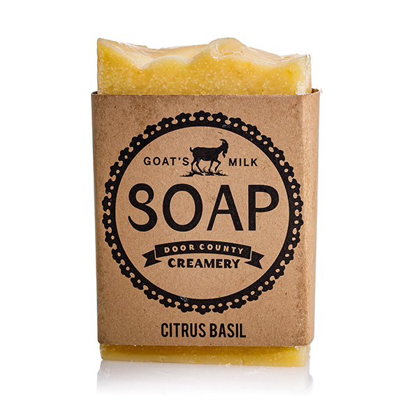 Citrus Basil Goat's Milk Soap - Door County Creamery