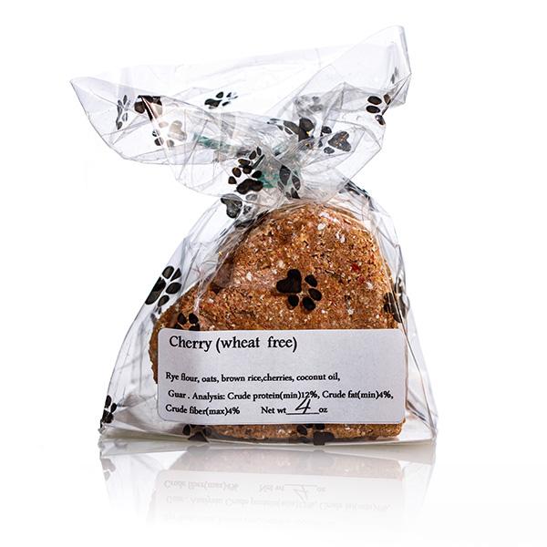 Cherry Heart Dog Treats (Wheat Free) - Stove Dog Bakery Bag