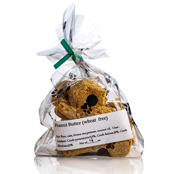 Peanut Butter Squirrel Dog Treats - Stove Dog Bakery Bag