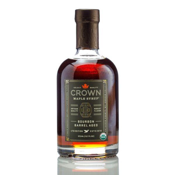 Crown Maple Bourbon Barrel Aged Maple Syrup Bottle