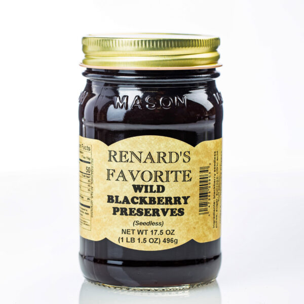 Renard's Favorite Wild Blackberry Preserves Jar