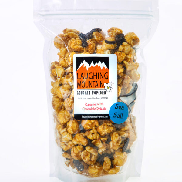 Laughing Mountain Gourmet Popcorn Carmel with Choclate Drizzle Bag