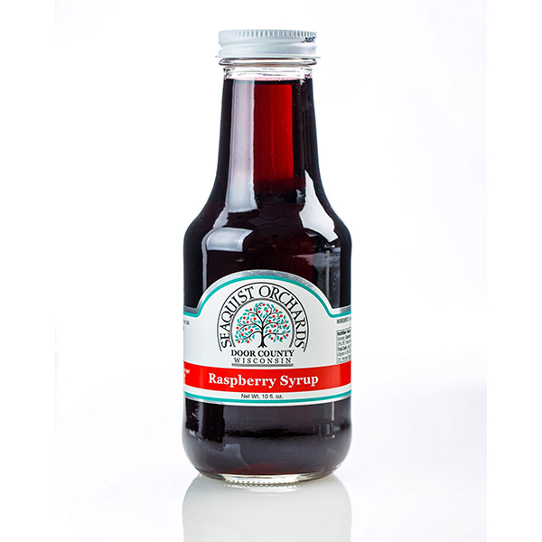 Red Raspberry Syrup - Seaquist Orchard Bottle