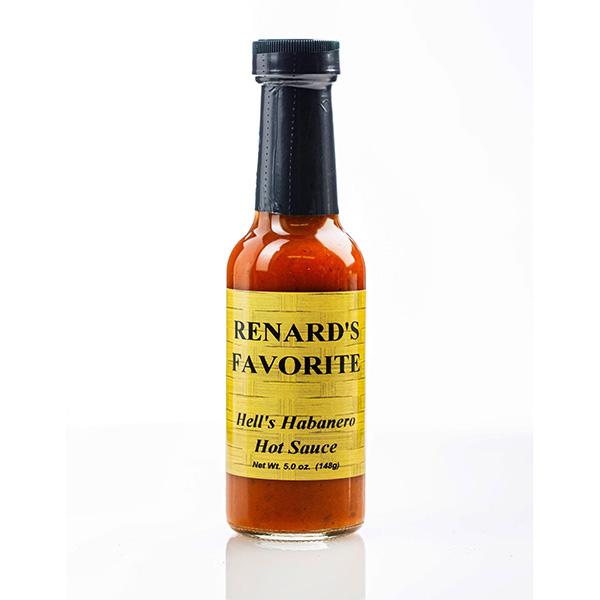 Hell's Habanero Hot Sauce - Renard's Favorite Bottle