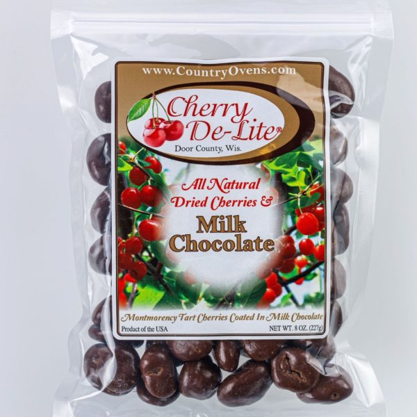Cherry De-Lite Milk Chocolate Covered Dried Cherries 8oz-0