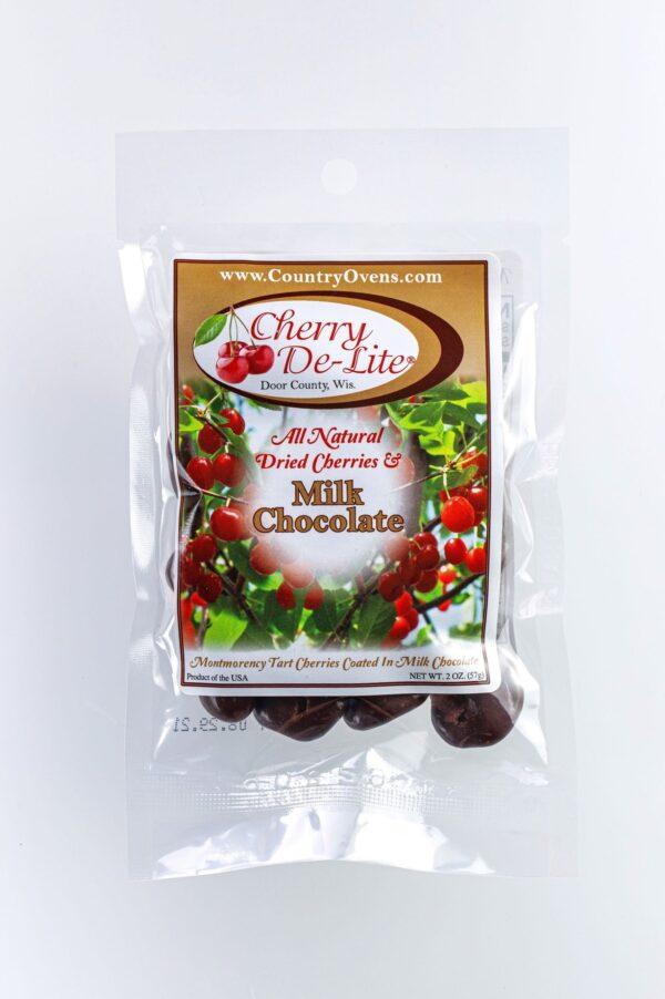 Cherry De-Lite Milk Chocolate Covered Dried Cherries 2oz-0