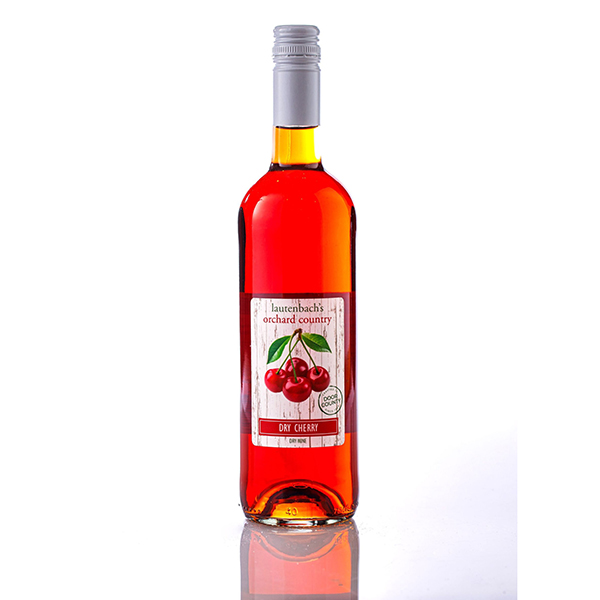 Natural Dry Cherry Wine - Orchard Country Bottle