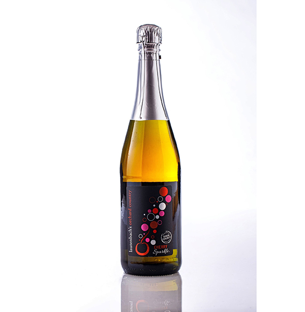 Cherry Sparkle Carbonated Cherry and Grape Wine - Orchard Country Bottle