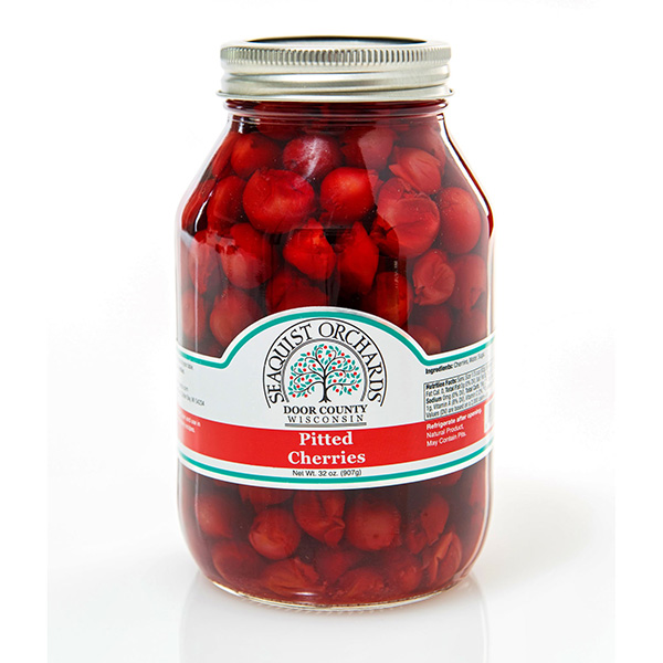 Pitted Cherries w/sugar - Seaquist Jar