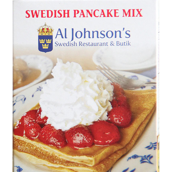Al Johnson's Swedish Pancake Mix Box
