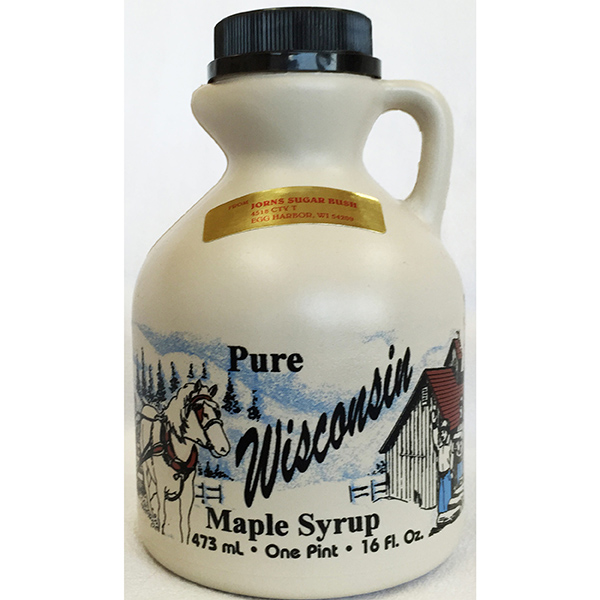 Door County Maple Syrup 16oz - Jorn's Sugar Bush Jug