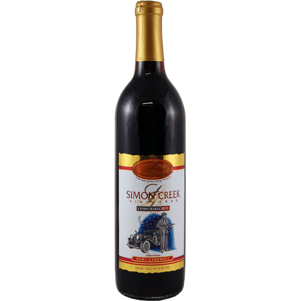 Untouchable Red Ruby Cabernet - Simon Creek Bottle
